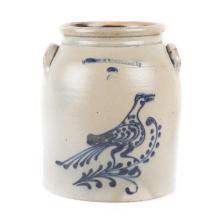 American salt glazed stoneware storage crock
