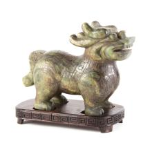 Chinese carved jade dragon