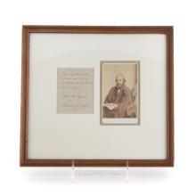 Autograph and CDV of Edward E. Hale