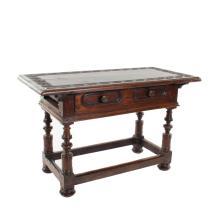 Flemish walnut table