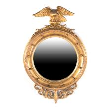 Classical style giltwood convex mirror