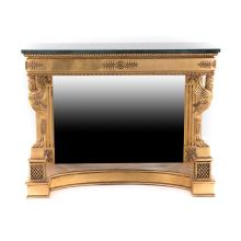 Regency style giltwood console table