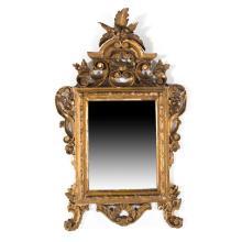 Italian giltwood carved mirror