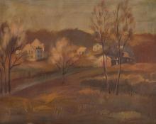 "Peppino Mangravite. ""Landscape,"" oil on canvas"