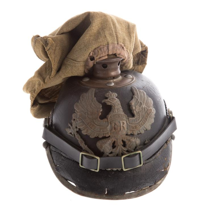 German world war one period spiked helmet for Alex cooper real estate auctions
