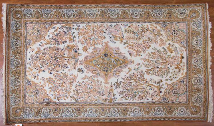 Silk goum rug approx 4 5 x 7 4 for Alex cooper real estate auctions