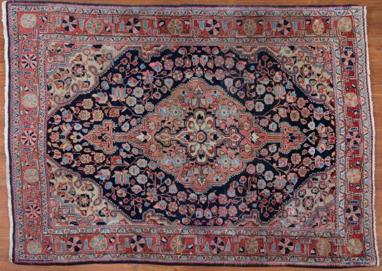Antique sarouk rug approx 3 6 x for Alex cooper real estate auctions