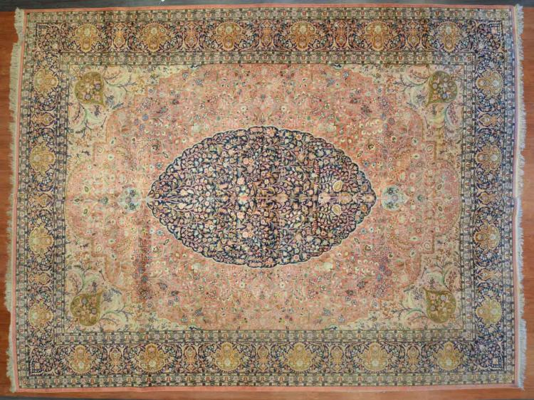 Silk kashmir indian carpet approx x 15 5 for Alex cooper real estate auctions