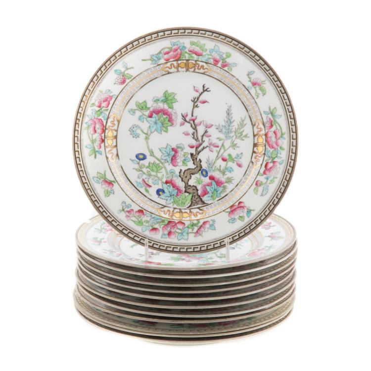 12 Royal Doulton China India Tree Dinner Plates