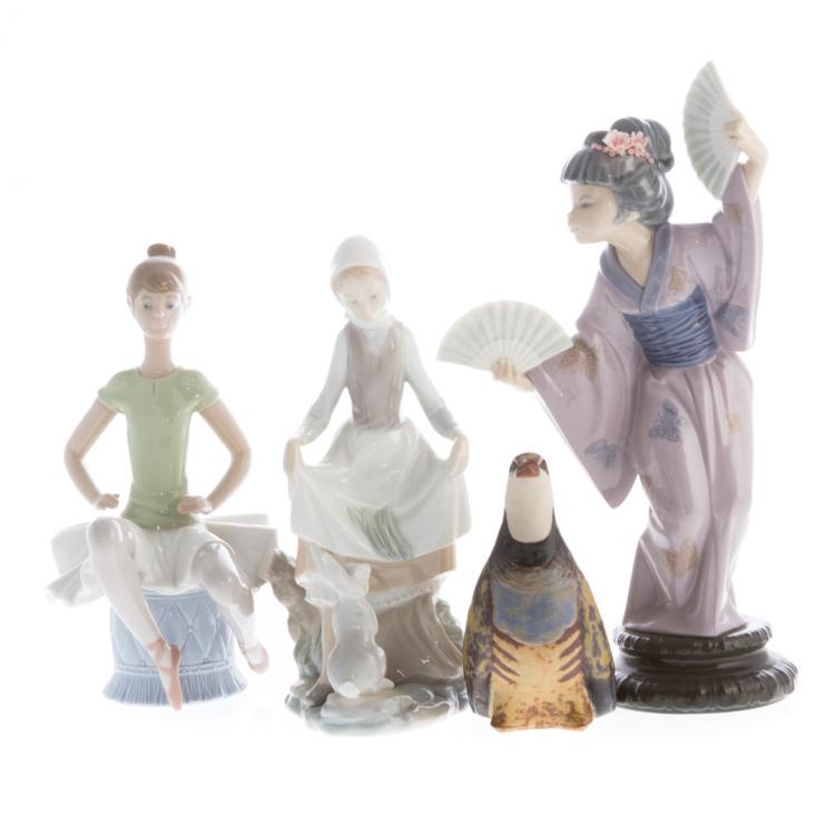 Four lladro porcelain figures for Alex cooper real estate auctions