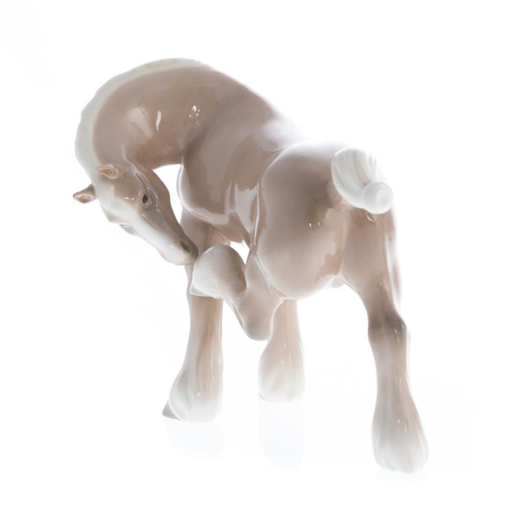 Lladro porcelain horse and turtle dove for Alex cooper real estate auctions