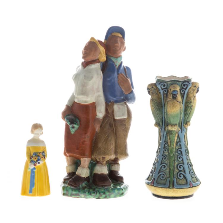 Three austrian pottery pieces for Alex cooper real estate auctions