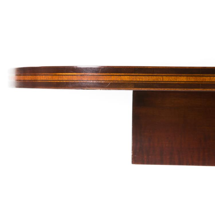 George iii inlaid mahogany dining table for Alex cooper real estate auctions