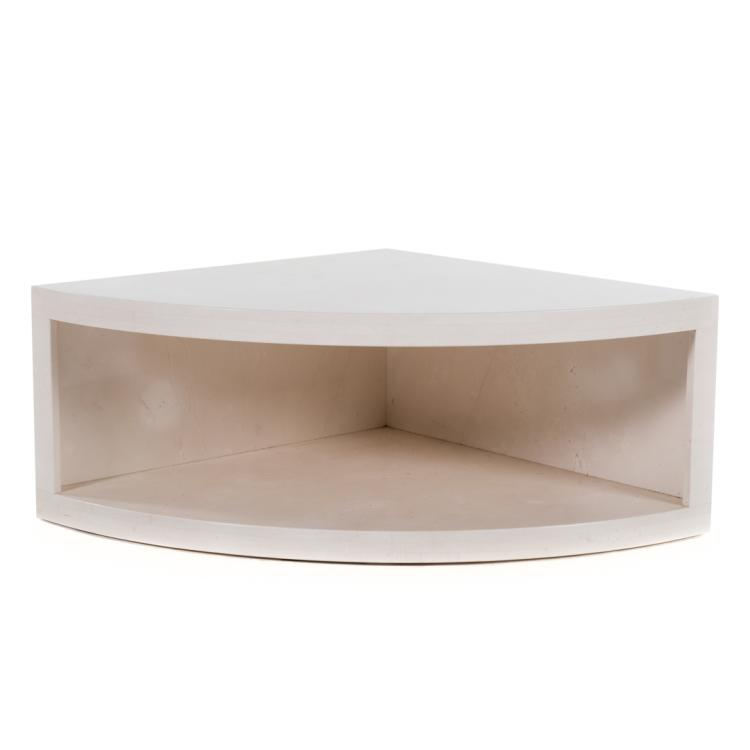 Contemporary italian marble corner table for Alex cooper real estate auctions