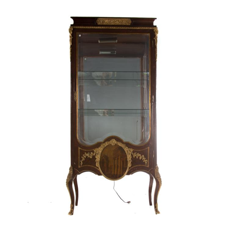 Louis xv style brass mounted vitrine for Alex cooper real estate auctions