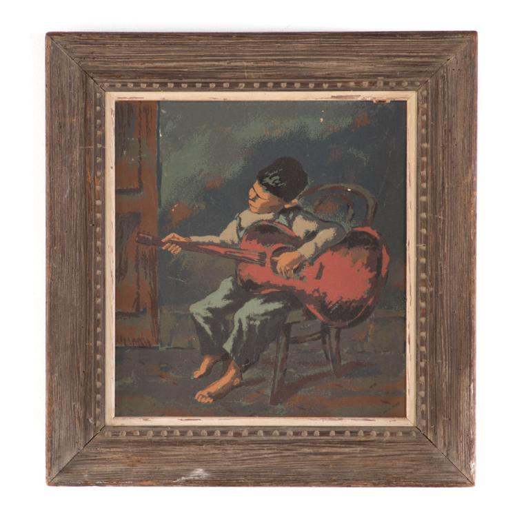 Abram tromka kentucky minstrel serigraph for Alex cooper real estate auctions