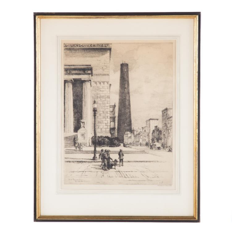 Gabrielle devaux clements shot tower etching for Alex cooper real estate auctions