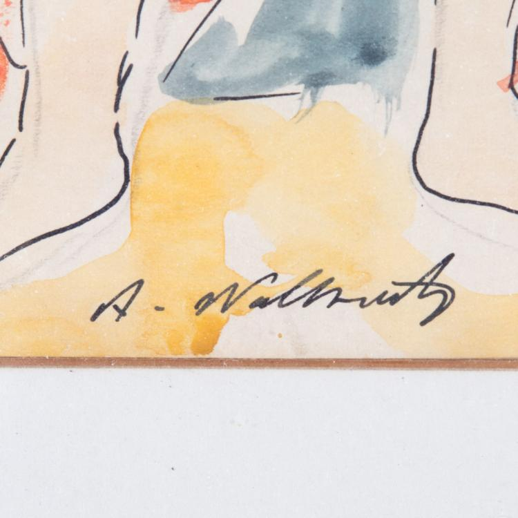 Abraham walkowitz isadora duncan watercolor for Alex cooper real estate auctions