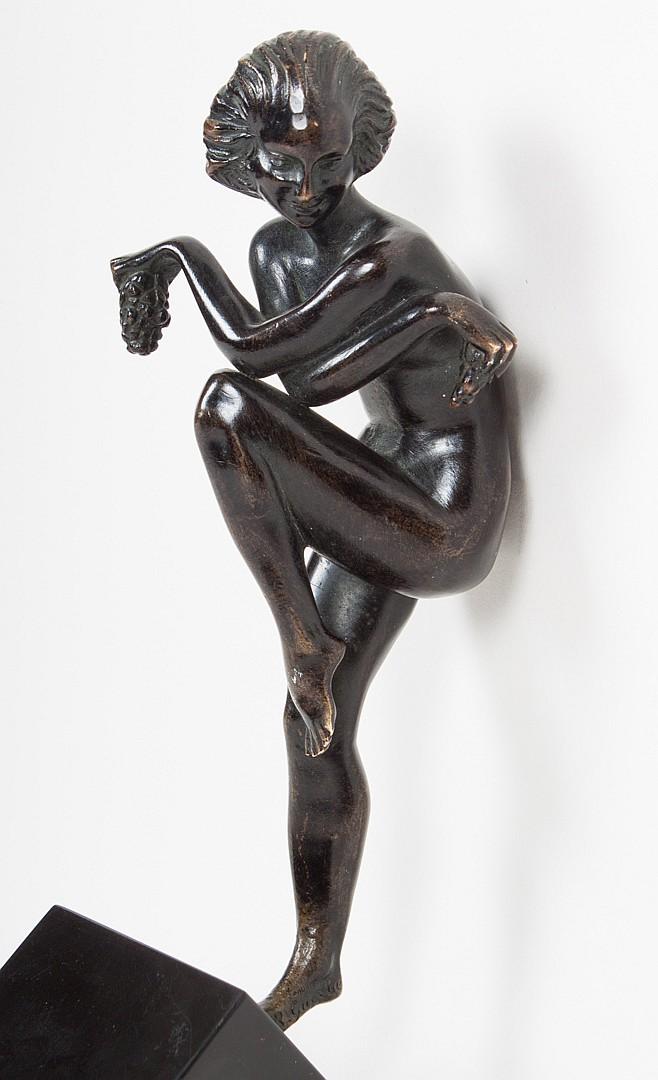 Raymond Guerbe. Grape Dancer, bronze