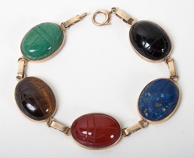 Lady 39 s 14k gold scarab bracelet for Alex cooper real estate auctions