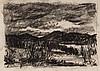 Eugene W. Leake. Landscape, charcoal on paper, Eugene W Jr Leake, Click for value