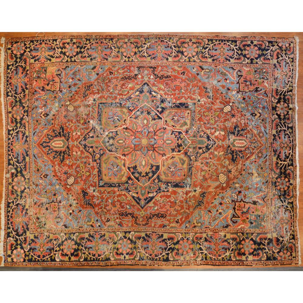 Heriz Carpet, Persia, 11.5 x 14.6