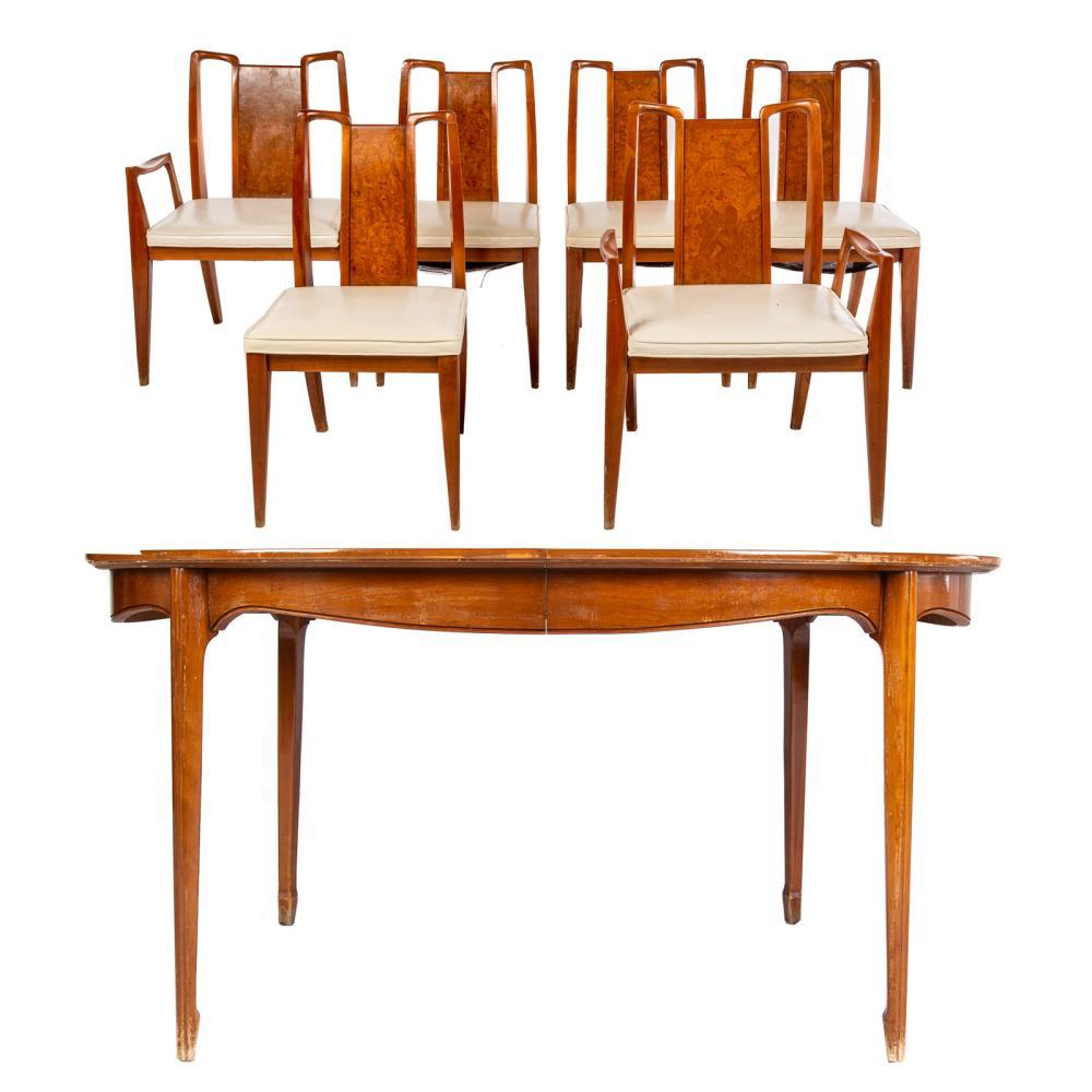 Mid-Century Modern Seven- Piece Dining Set