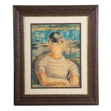 Victor Manuel. Seaside Portrait, watercolor