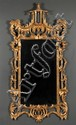 Chinese Chippendale style giltwood mirror