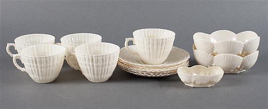 Belleek glazed parianware table articles