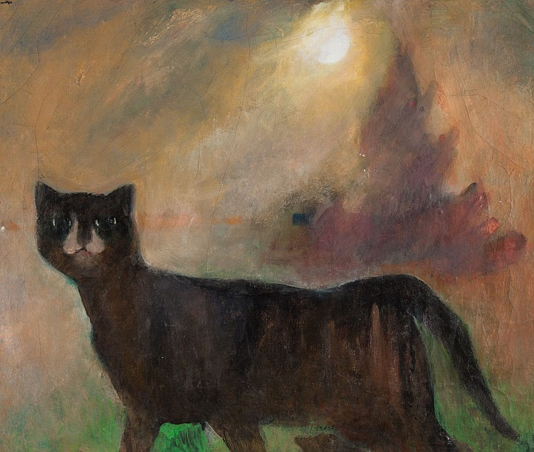 Perna Krick. Modernist Cat, oil on canvas