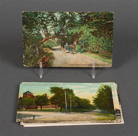 [Postcards] About twelve cards, most posted, from Westminster and Hampstead MD and Hanover PA