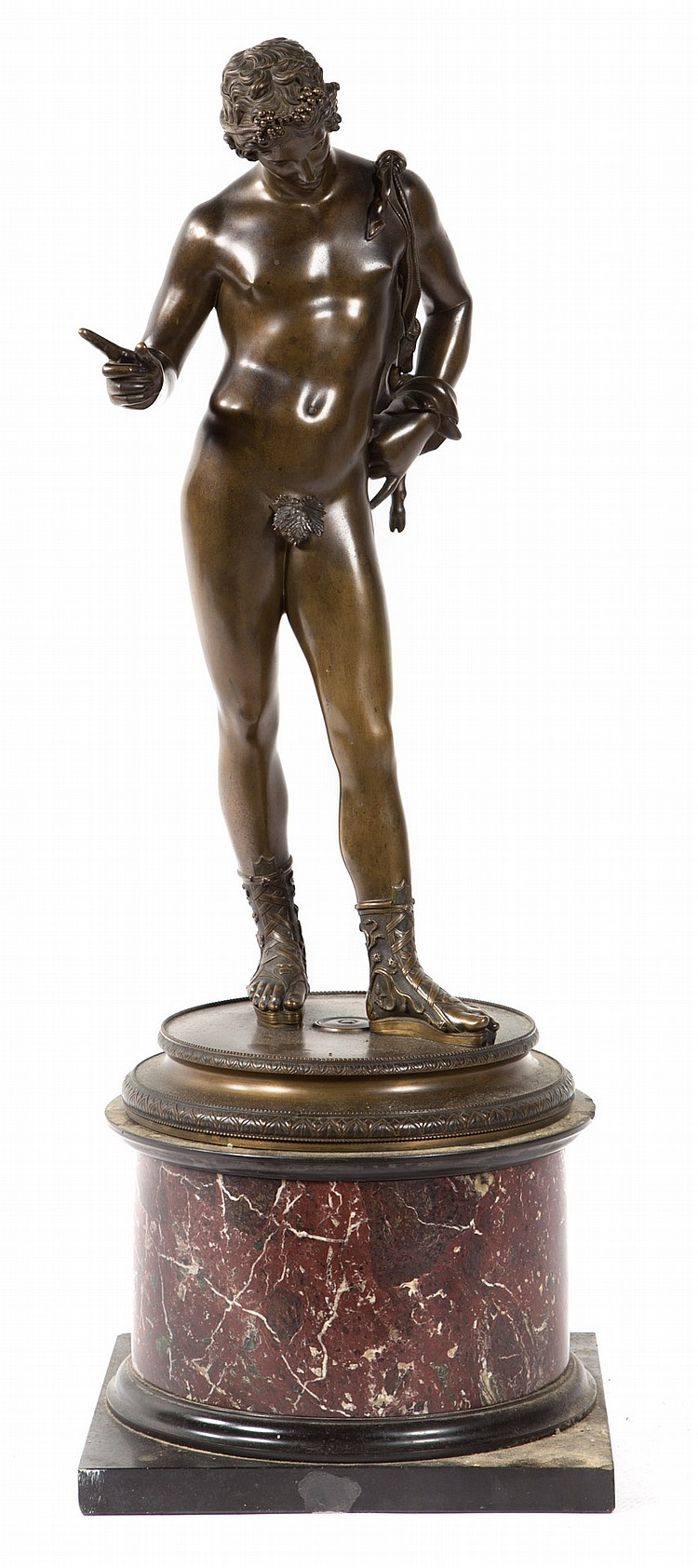 Benedetto Boschetti. Narcissus, Grand Tour bronze