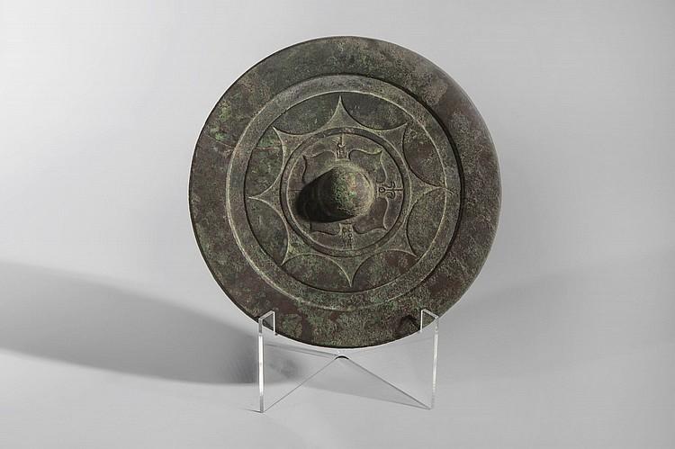 Miroir circulaire moul de cercles concentriques motif to for Miroir circulaire