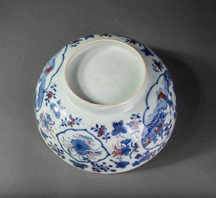 Large bol sur pied en couronne en porcelaine blanche d cor e - Applique porcelaine blanche ...