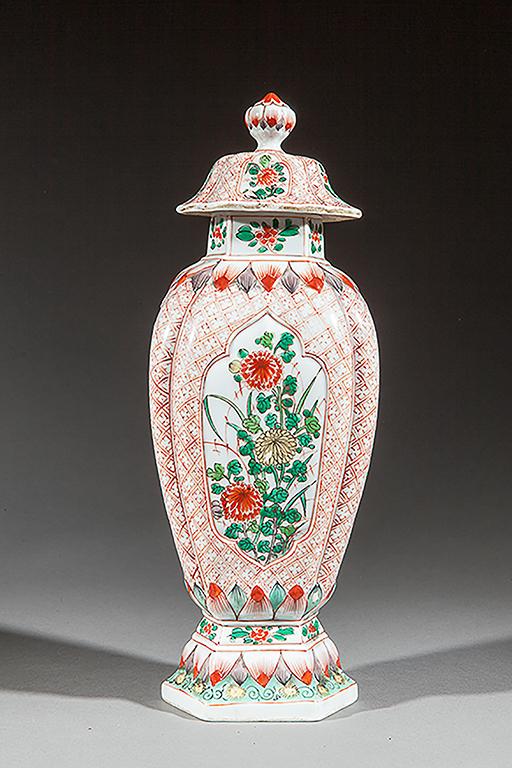 Pot sur pi douche couvert en porcelaine d cor wuca de bou for Decoration sur porcelaine