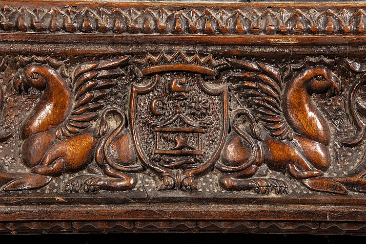 Grand miroir colonial en bois exotique richement sculpte d 39 for Miroir exotique