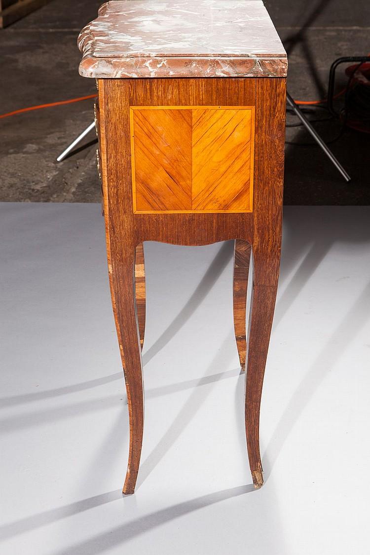 Petite table de milieu en placage de bois de rose et palissa ~ Petite Table Bois