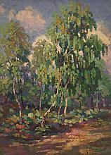 """Gabriel Moiselet """"Fontainebleau"""" - 1927- 82x60 cm"""