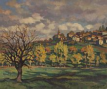 "Gabriel Moiselet ""Polignac"" -1950- 54x65 cm"