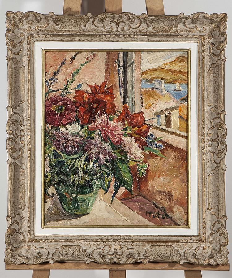 Marie mela muter 1897 1967 bouquet de fleurs a la fenetre for A la fenetre sarthoise