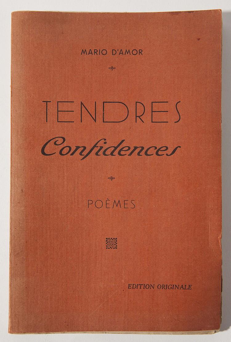 Mario D Amor Tendres Confidences Recueil De Poemes