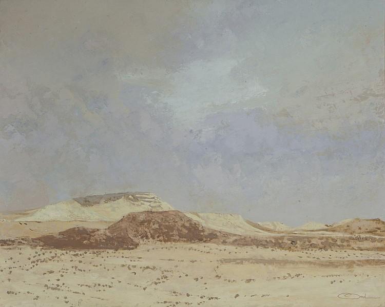 Gillles ARZUL (1951 ) - la cote a Tataouine- Huile sur toile- Signee en bas a droite - 65 x81cm