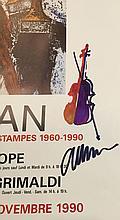 Lot d' affiches d' ARMAN dedicacees par l' artiste