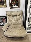 Airborne design un canape et deux fauteuils en acajou garn for Canape cuir blanc conforama