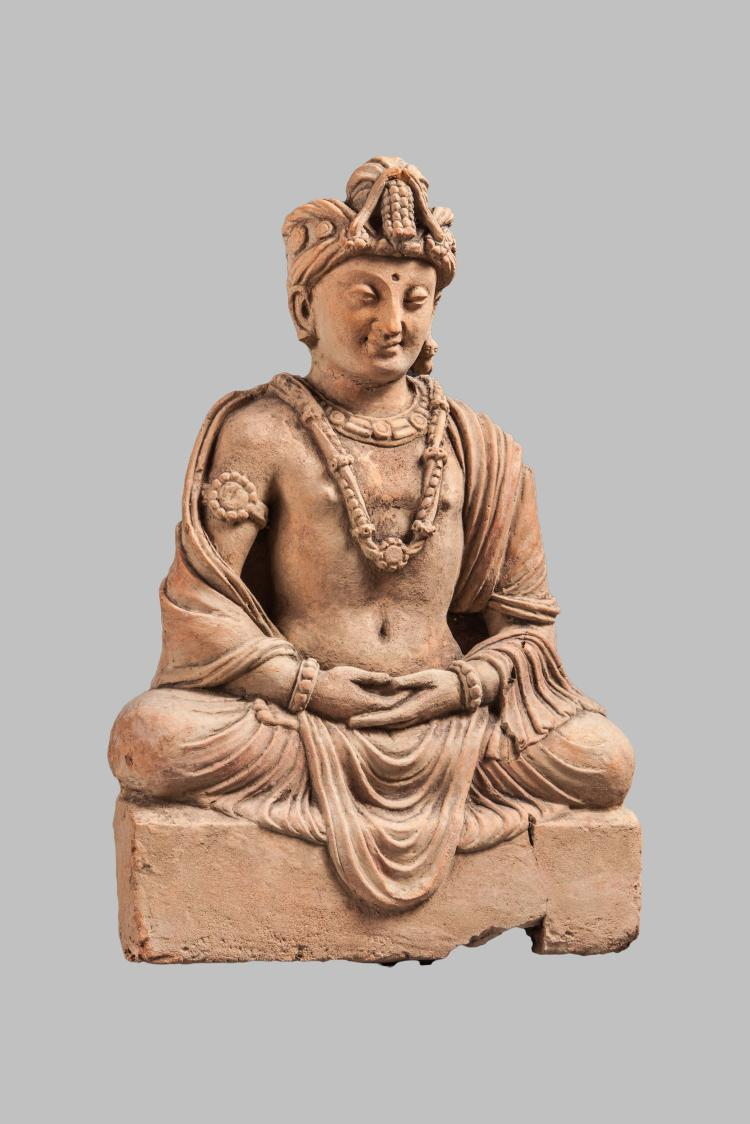 Boddhisattva Maïtreya assis en méditation,