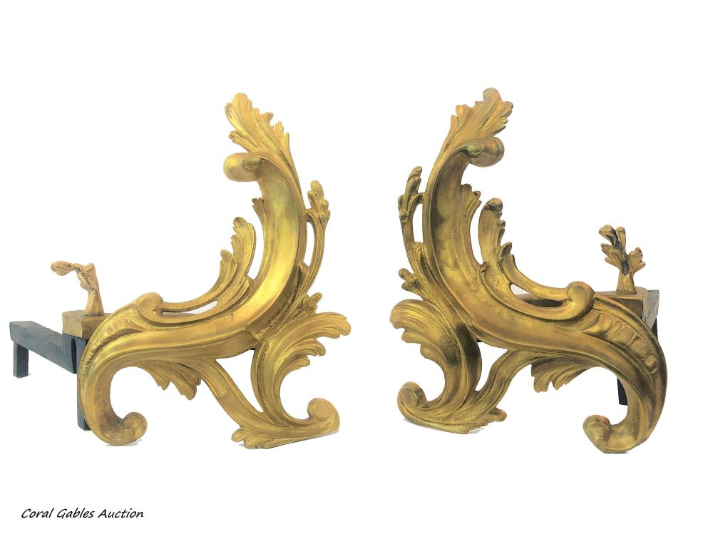 Bronce Fireplace Accessories, 19th century