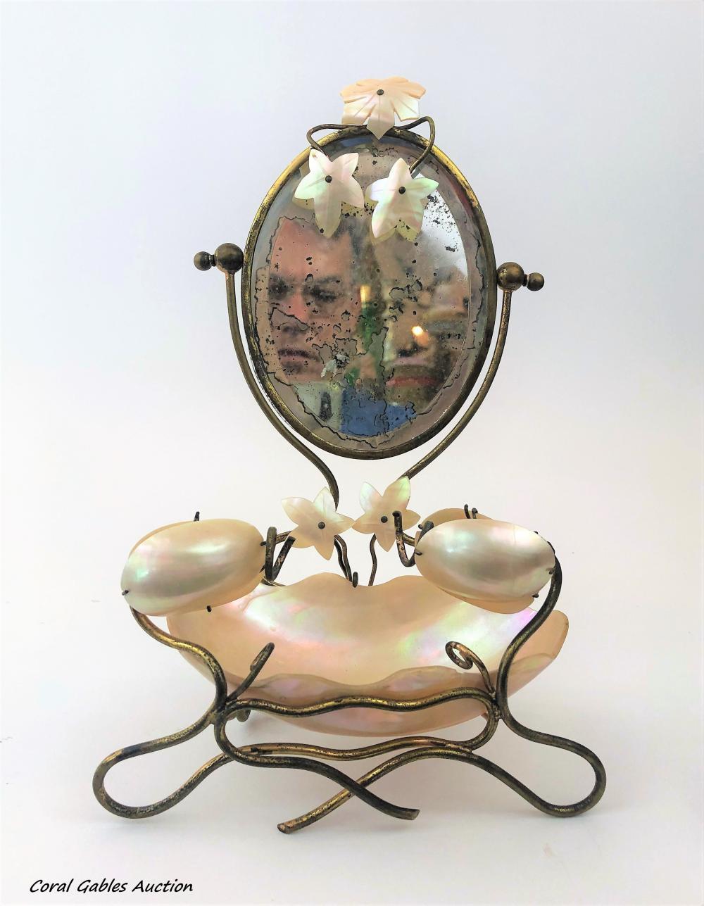 Antique Mother Pear Vanity Piece