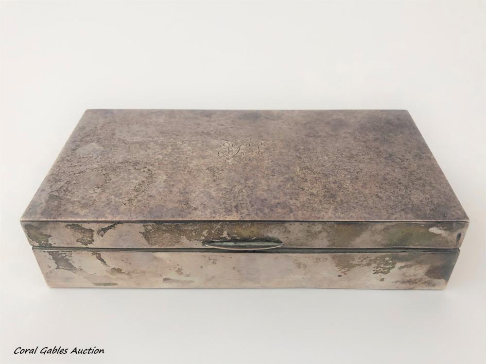 Antique sterling silver box