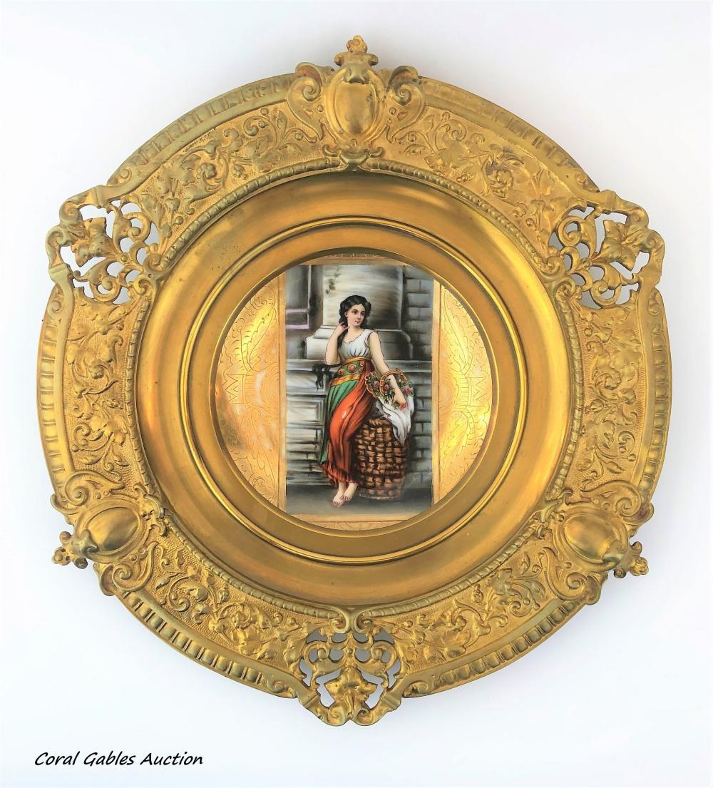 Royal Vienna Porcelain Plate.